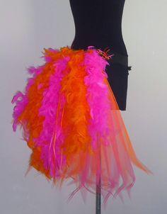 Burlesque Bustle Belt Feathers Sexy Pink Orange Fancy Dress The Tutu Store-uk #thetutustoreuk #Burlesque
