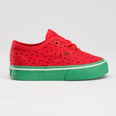 These are cute, but I wouldn't want my baby to be a walking stereotype...literally! watermelon vans