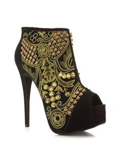 Passion Black Brocade Boot