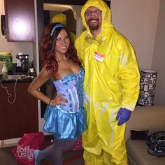 Halloween costumes for 2014! Homemade walter white and blue crystal meth costumes! )  sc 1 st  Pinterest & 21 DIY Couples Costumes for Halloween | Pinterest | Heisenberg ...