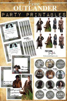 Free Outlander Party Printables!