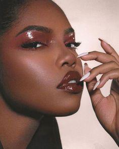 Black Girl Makeup, Girls Makeup, Glam Makeup, Makeup Inspo, Makeup Inspiration, Beauty Makeup, Hair Makeup, Makeup Eye Looks, Pretty Makeup