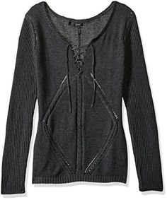 Buffalo David Bitton Womens Cablelace Charcoal XL >>> Click image for more details.-It is an affiliate link to Amazon. #fashionsweaters