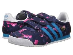 adidas Originals Kids Dragon (Little Kid). Love that print, wish they had my size too!