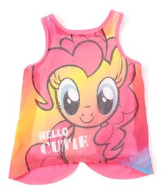 Look at this My Little Pony Pinkie Pie 'Hello Cutie' Tulip Tank - Girls on #zulily today!