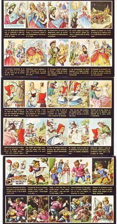 3 postales con el cuento de ,la cenicienta-caperucita roja y el sastrecillo valiente años 70