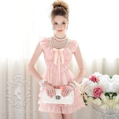 Aliexpress.com : Buy High Quality DABUWAWA Boutique Garment 2012 summer pink multi layer ruffle V neck bow one piece dress from Reliable high neck short dresses suppliers on Min Order $10----Yiwu Best Gifts&Crafts Firm. $78.76