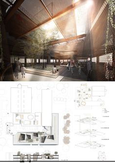 Competition Asks Young Architects to Transform Abandoned Factory into Cultural Center,Mention: KenepaStudio (Andrea Gion, Elisa Zanchetta, Tania Sarria, Marco Furlan). Image Courtesy of Young Architects Competitions Architecture Design, Architecture Presentation Board, Architecture Panel, Cultural Architecture, Presentation Layout, Architecture Graphics, Architecture Visualization, Architecture Student, Presentation Boards