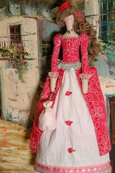 Love this Tilda doll in period dress!