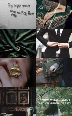 "olivieblake: ""Aesthetic: Slytherin 