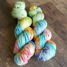 Hand Dyed Yarn. Indie Dyed Yarn. SW Merino by UpInYarnsDesigns