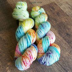 Hand Dyed Yarn. Indie Dyed Yarn. SW Merino by UpInYarnsDesigns