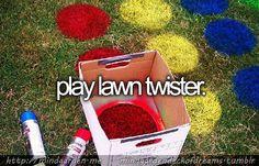 Play lawn twister.