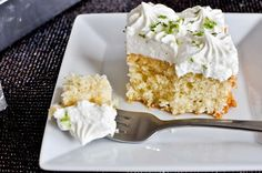 Lemon Lime Cake with Fresh Lime Whipped Cream