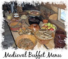 Medieval Buffet Food Decoration for a Party