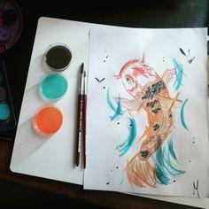 Drawing.. Carpa Koi!
