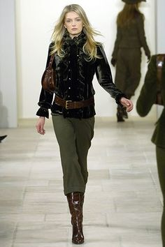 Ralph Lauren Fall 2006 Ready-to-Wear Fashion Show - Lily Donaldson