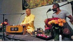 Preaching program at Yogamaya yoga studio in the Chelsea section of New York City