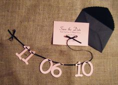 DIY Tutorial: Cut-out Number Save the Dates & Custom Envelopes, via theplungeproject