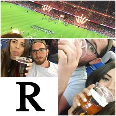 R is for Rugby! Loved my first experience of sharing Gaz's greatest love! The cider helped too! 😂🍻👫🏉 #AlphabetDating