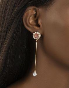 Gem Drop Earrings   Woolworths.co.za Pearl Earrings, Drop Earrings, Faux Stone, Gems, Detail, Accessories, Jewelry, Women, Diamonds