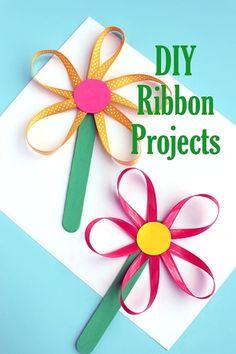 Flower Crafts Kids, Cute Kids Crafts, Spring Crafts For Kids, Craft Activities For Kids, Summer Crafts, Craft Stick Crafts, Art For Kids, Diy Crafts, Easy Mother's Day Crafts
