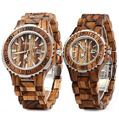 Bewell ZS-100B Couple Wooden Quartz Watch Men and Women 30M Water Resistance Date Display Fashion Watches – Wooden Watches Store