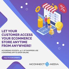 According to Statista, 42% of #Shoppers use a Shopping #App 📱 to #ShopOnline. 🚀 So, let your #Customers access your #eCommerce Store 🛒 anytime from Anywhere using your own App! 👥 Talk to our Experts: Ecommerce Store, Mobile Application, App Development, Let It Be, Website, Shopping