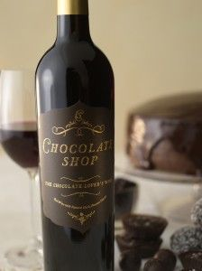 Chocolate Shop Wine - Red Wine infused with Chocolate.     chocolate and wine at the same time... gotta try this!