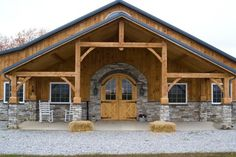 Timber frame front.