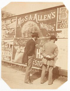 Advertising hoarding from Sydney, ca. 1885-1890 / photographed by Arthur K. Syer