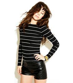 Because really, a girl can never have too many striped tees:  Reformation Delphine Top ($78)