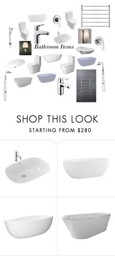 """""""Bathroom Items"""" by insideout1 on Polyvore featuring interior, interiors, interior design, home, home decor, interior decorating, Novo, Villeroy & Boch, Isolá and Hansgrohe"""