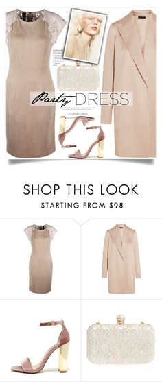 """""""Perfect Party Dress"""" by yoo-q ❤ liked on Polyvore featuring MARC CAIN, The Row, Steve Madden, Tasha, partydress and contestentry"""