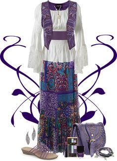 """""""Gypsy Punk Purple"""" by chrissykp ❤ liked on Polyvore"""