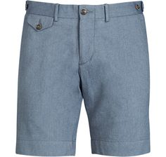 Suitsupply Blue Subalpino Cotton Shorts (B337I)-$129.00
