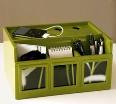 Pottery Barn All in One - Desk Organizer + Photo Caddy + Mobile Ipod Charger ...