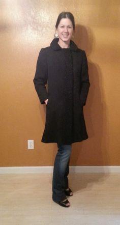 1950's persian lambs fur and wool coat black medium by fauxyfurr, $55.00
