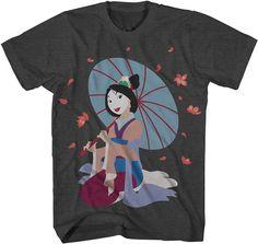 Novelty T-Shirts Disney Mulan Short-Sleeve T-Shirt