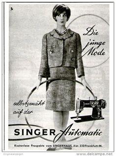 Original-Werbung/Inserat/ Anzeige 1960 - SINGER NÄHMASCHINE ca. 100 x  135 mm