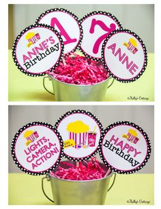 Movie Night Party 4 Inch Party Circles by KellysCottageShoppe, $5.50