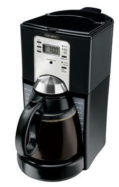 Mr. Coffee FTX43-2 12-Cup Programmable Coffeemaker, Black -- To view further, visit now : Small Appliances