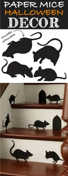 Mice Silhouettes…adorable