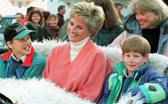 .Princess Diana with sons William and Harry