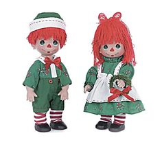 Here's a new arrival that is great for Raggedy lovers, Precious Moments lovers, holiday wishes, and much more. These adorable 12 in. dolls are item PMC0759E at my Tias site, http://www.donnasksorner.com. They are being sold as a set.
