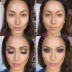 10 BEST FACE CONTOURING PHOTOS AND CHEAT SHEET – TURN YOURSELF INTO A DIVA