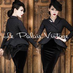 Le-Palais-Vintage-Retro-Elegant-Dot-Jacquard-Short-Tailcoat-Designed-by-Winny