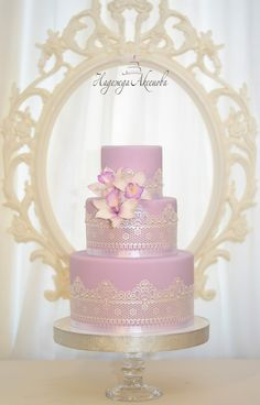 Wedding Cakes with Sugar Flower, lace