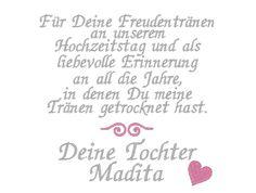 HOCHZEIT ♥ Besticktes Taschentuch ♥ Brauteltern von Herzkäfer DESiGN auf DaWanda.com