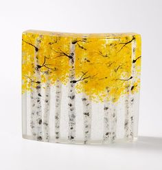 Autumn Glow by Amanda Taylor and Lance Taylor: Art Glass Sculpture available at http://www.artfulhome.com